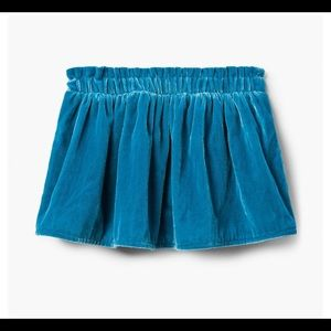 Gymboree Girls velvet skirt NWT